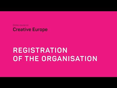 Creative Europe: registration of the organization with Yvelin Karu-Veskioja