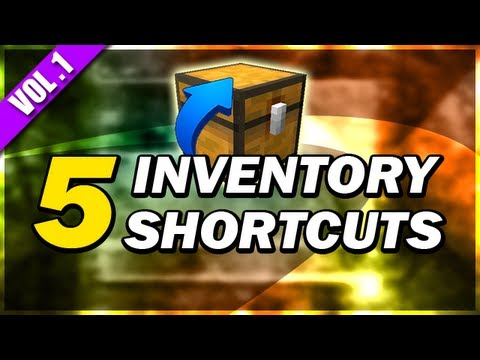 [Minecraft] 5 SIMPLE SHORTCUTS (Inventory) - Volume 1