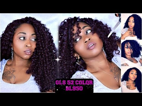 How To Cut Long Curly Hair To  Short Curly Bob | FridayNightHair GLS52 ☆