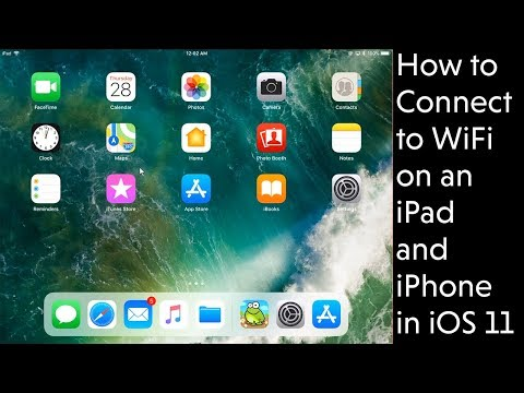 How to Connect to WiFi Wireless with an iPad, iPhone, iPod on Apple iOS 11 - Video