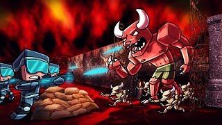 Minecraft | DEMON BASE DEFENSE - Horde of Demons Attack! (Base Challenge)