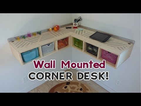 DIY Wall Mounted Stand Up Desk!