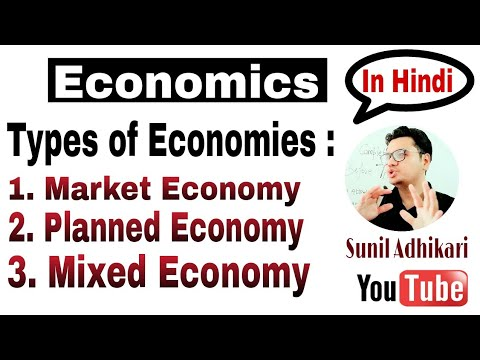 Meaning of Market Economy, Planned Economy, Mixed Economy (in Hindi) | Class 12 | Sunil Adhikari |