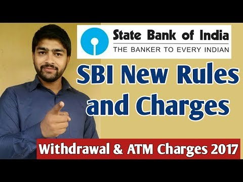 SBI New Rules and Charges 2017  Charges का लगा पहाड़ ।