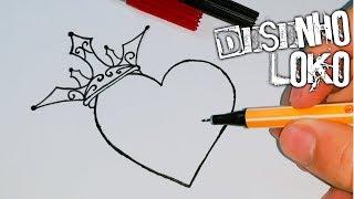 como desenhar um coração tumblr