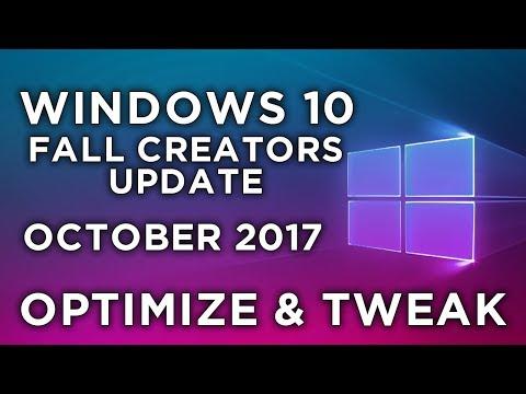 Windows 10 Fall Creators Update optimization & tweaking guide [GAMING]