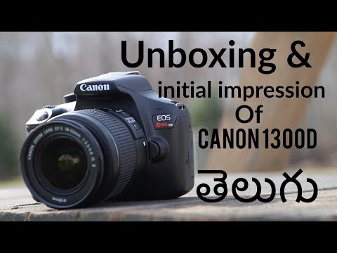 Unboxing and initial impression of CANON 1300D DSLR CAMERA in Telugu in HTDT(How to do??? In telugu)