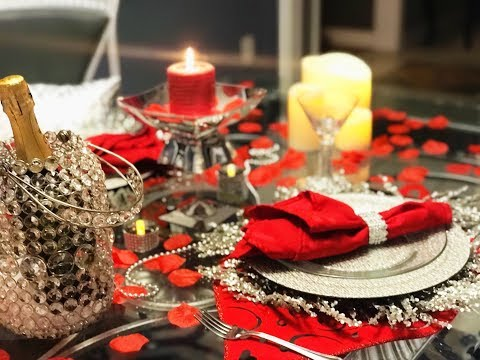 Romantic Valentines Dinner for two - Tablescape