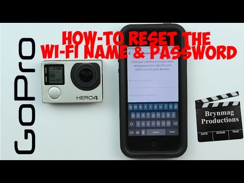 How to RESET the Wi-Fi Name and Password in the GoPro HERO4