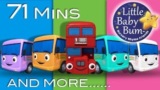 Ten Little Buses | Plus Lots More Nursery Rhymes | 71 Minutes Compilation from LittleBabyBum!