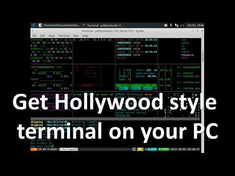 Hollywood style terminal on your PC   Terminal special effects