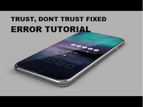 HOW TO FIX (TRUST DON'T TRUST) FIXED!  IPHONE ,IPAD AND ANY OTHER IOS