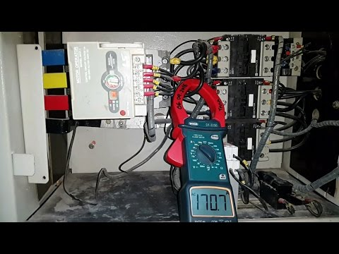 star delta starter panel star and delta current checked in 22 kw motor -Electrical videos in tamil