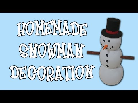 How to Build a Snowman Decoration - Easy Lathe Project - Gift Idea
