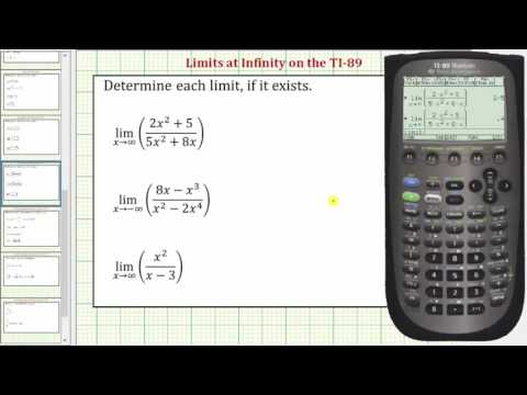 Determine Limits at Infinity on the TI-89