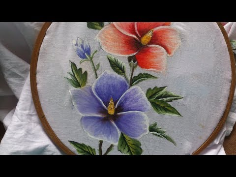 Painting. Fabric painting tutorial for beginners. fabric painting on clothes.