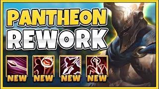 WTF! NEW PANTHEON REWORK IS 100% BEYOND BROKEN! (INVINCIBLE) REWORKED PANTHEON - League of Legends