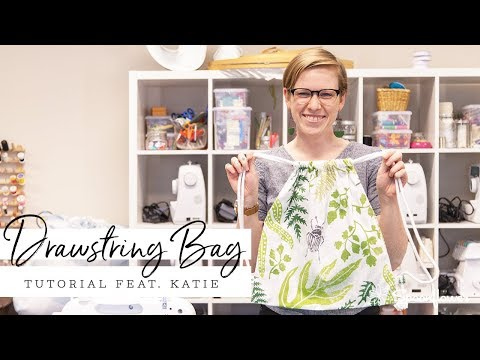 This DIY Drawstring Backpack is a Cinch!   Spoonflower