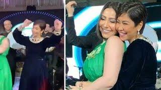شيرين عبد الوهاب ترقص مع بوسى فى زفاف شقيقتها امام زوجها وبناتها