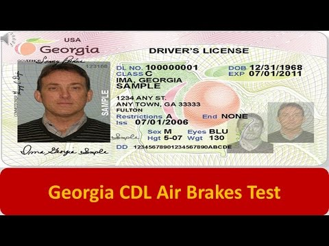 Georgia CDL Air Brakes Test