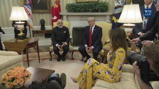 President Trump Meets with Prime Minister Modi