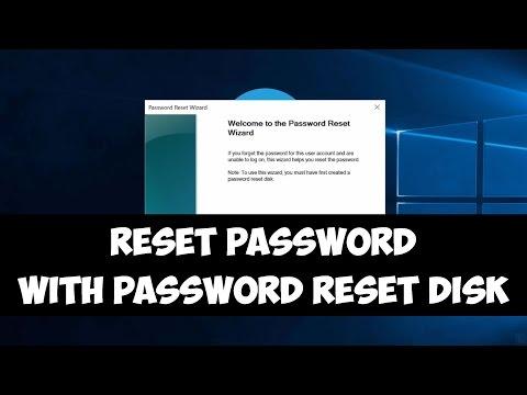 Reset Windows password with password reset disk