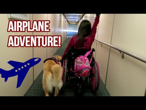 ✈ Flying with a Service Dog, Feeding Tube & Wheelchair! 🐕♿ (4/13/18)
