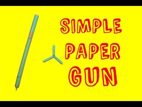 How to Make a Paper Pocket Mini Gun that Shoots Paper Bullets - Easy Paper Gun Tutorials
