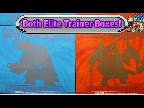 Opening both XY Evolutions Elite Trainer Boxes! Blastoise & Charizard - Pokemon TCG Unboxing review