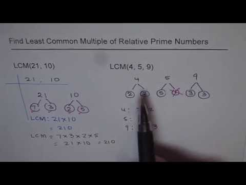 LCM of Relative Prime Numbers