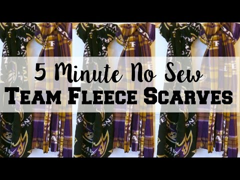 How To Make A 5 Minute No Sew Team Fleece Scarves, Episode 15