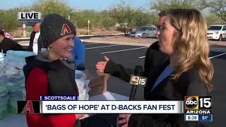 "Arizona Diamondbacks taking action to pack ""Bags of Hope"""
