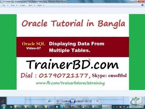 14-Oracle SQL- Displaying Data From Multiple Tables