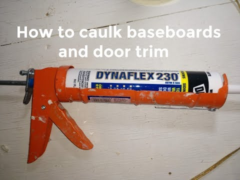 How to caulk baseboards and door trim DIY video #diy #caulk