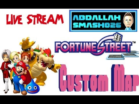 Let's Play Fortune Street for Wii Online: Custom map LIVESTREAM with Abdallah!