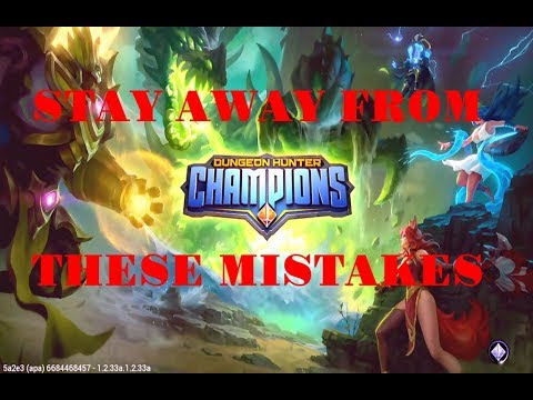 4 Biggest Mistakes Dungeon Hunter Champions Players Can Make