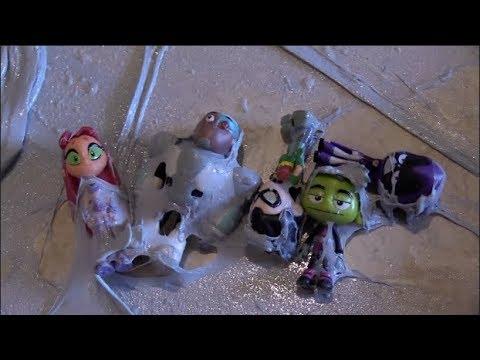 Teen Titans Go! Slime Bubble Robin, Starfire, Raven, Beast Boy, Cyborg