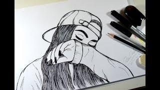 Como Desenhar Garota Tumblr How To Draw Girl