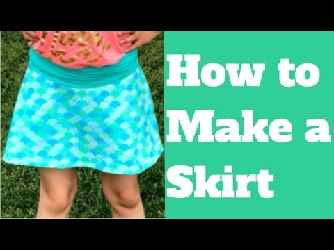 HOW TO MAKE A CHILDS SKIRT WITH SHORTS UNDERNEATH