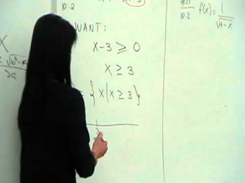 Finding the Domain Given the Equation Part 2