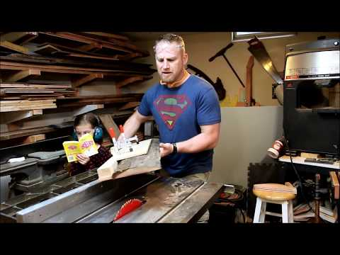 Simple Table Saw Sled Jig for Squaring Rough Cut Lumber