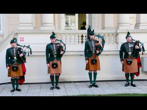 The Royal Irish Regiment Pipers