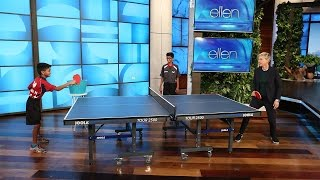 Ellen Meets Table Tennis Champion Siblings