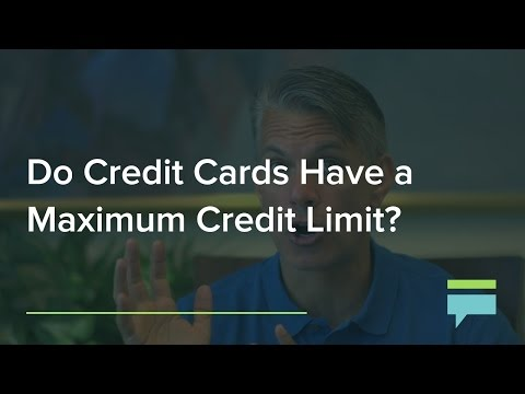 Do Credit Cards and Charge Cards Have A Maximum Credit Limit? – Credit Card Insider