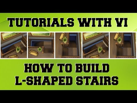 Tutorials With Vi - How To Make L-Shaped Stairs