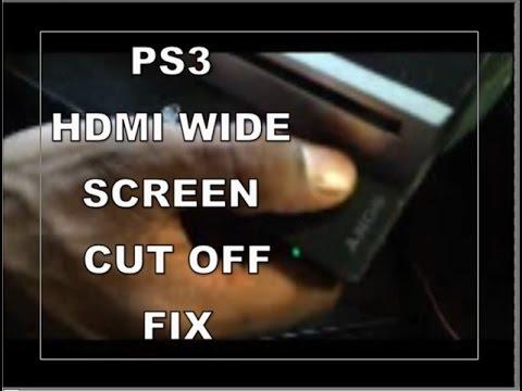 SONY PLAYSTATION 3 PS3 FULLSCREEN WIDESCREEN CUTOFF FIX