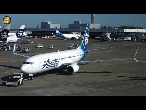 Alaska Airlines B737-800 5:23-hrs-nonstop FIRST CLASS Seattle-Honolulu [AirClips full flight series]