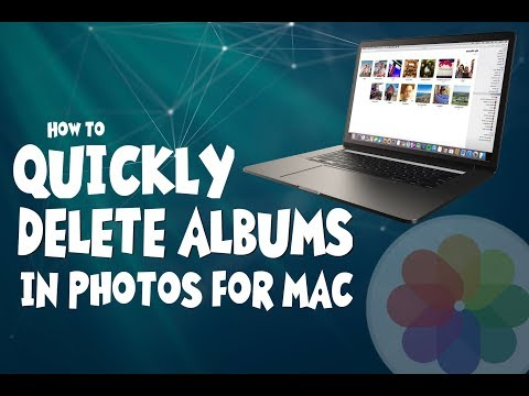 Quickly Delete Albums in Photos for Mac