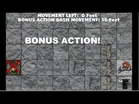 Actions in Combat: Bonus Action - D&D 5E Tutorial