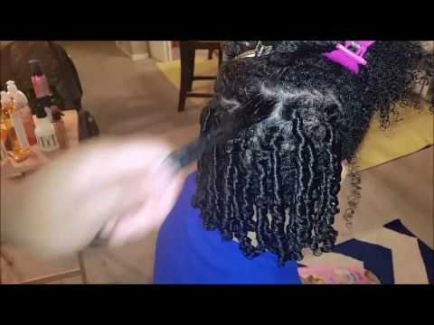 Finger coils or finger curls on natural hair